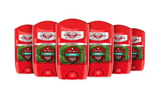 Old Spice - Desodorante Stick Citron, Pack de 6 x 50ml (300ml Total)