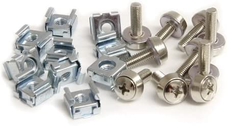 StarTech.com CABSCREWM5 M5 Mounting Screws and Cage Nuts for Server Rack Cabinet - Rack screws and nuts (pack of 50)