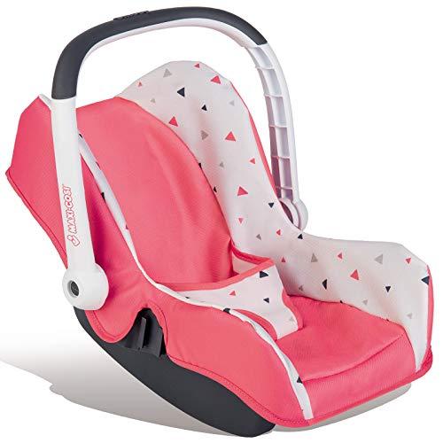 #11 Puppen Babyschale Maxi Cosi für Spielzeug Puppe bis 42 cm Quinny Autositz mit Staufach passend für Maxicosi, Puppenwagen, nutzbar als Puppenbett, Puppenwiege, Puppensitz, Puppentrage