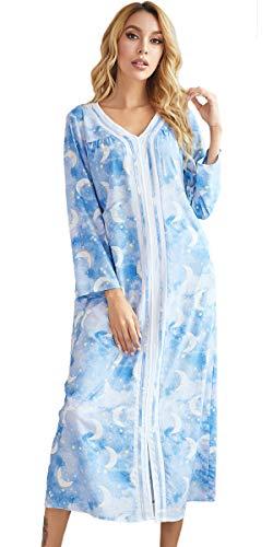 Nanxson Damen Nachtwäsche Ganzkörper Nachthemd Volle Länge Loungewear Hausmantel...