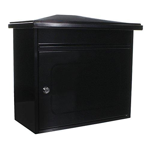 Rottner Briefkasten Wörthersee Anthrazit, großes Fassungsvermögen, Pulverbeschichtetes Stahlblech, Postkasten