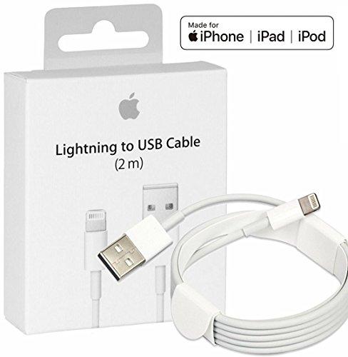 Cable iPhone USB a Lightning [Apple MFi Certificado], 2 m, Blanco