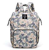 Multi-Function Diaper Bag for Baby Care Wide Open Nappy Bags Large Capacity Handbags Travel Backpack Waterproof Lightweight New Camouflage