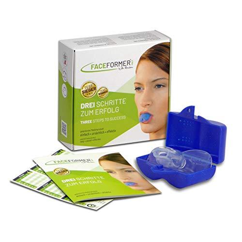FaceFormer kristallklar • Effektiv bei Schnarchen, Schlaf-Apnoe, Zähneknirschen, CMD, Schmerzen u.v.m. • Original Dr. Berndsen • (Box blau)