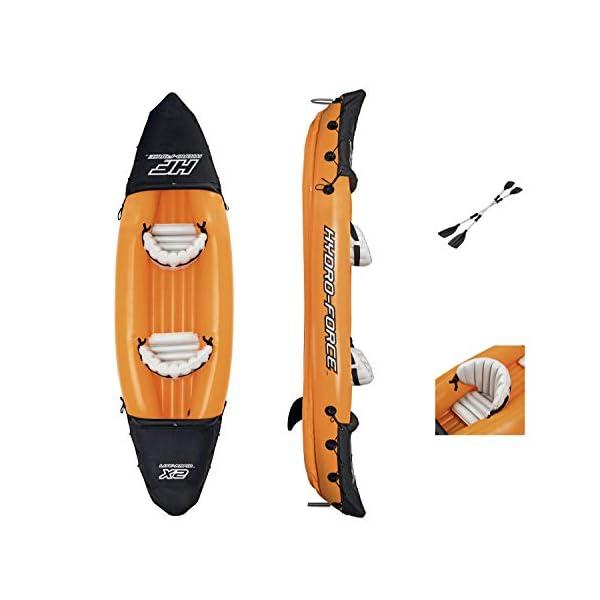 Bestway 8321401 Flotador Kayak Semirigido 330 x 94 cm. 2 Personas MAX. 160 Kg. con Remos, Unisex-Adult, Multicolor, One… 2