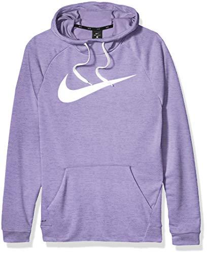 Nike Men's Hoodie Pull-Over Swoosh, Medium Violet/Mystic Navy/Heather/White, Large