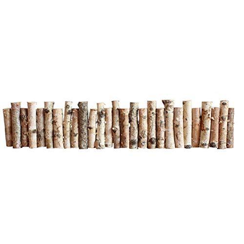WCY Picket Fence Raumtrennung Pflanzenschutz Wetterschutzimprägnierung Garten Gemeinschaft Corrosion Resistant Prozess Birkenholz All Natural (Farbe: Natur, Größe: 100x20cm) yqaae