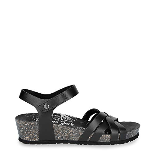 Panama Jack Damensandalen Chia Nature B2 Pull-Up Negro/Black