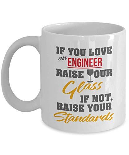 330ml Tazas té Tazas Si amas a ingeniero alza copa genial profesional eléctrico mecánico químico software informático civil ingenieros redes Taza bebida café Regalo Vajilla Agua/Leche Hogar,Oficina