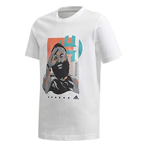 adidas Unisex Kinder Y Harden Geek Unterhemd, weiß, 158 (12/13 Años)