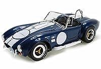 1965 シェルビー コブラ 427 S/C コンバーチブル キャロル シェルビー ブルー ホワイトストライプ シェルビー SC121-1 1/18スケール ダイカストモデル おもちゃの車