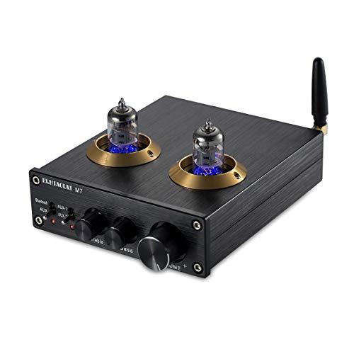 Nobsound Preamplificador de audio estéreo HiFi 6J2 con Bluetooth (negro)