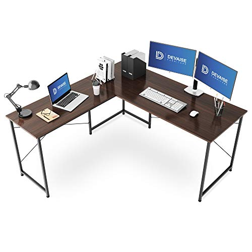 DEVAISE デスク L字デスク コーナーデスク パソコンデスク 幅150*奥行150cm モニターアーム対応 在宅勤務 ...