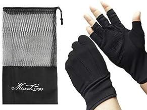 JIAHG Men Summer Driving Gloves Women Sunscreen Half Finger Fingerless Gloves Lightweight Summer UV Protection Cycling Gloves Breathable Gym Fitness Workout Motorcycling Cotton Gloves