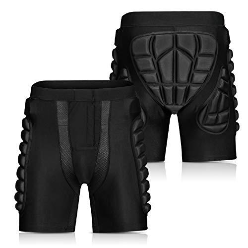 Bicye&Sandth Motocross Shorts Protector Armor Short für Snowboard Skating Skifahren Reiten Rennausrüstung Black XL
