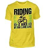 Riding a Bike if You Love Life   Fahre Bike wenn du das Leben liebst - Camiseta para hombre, dorado, XXL