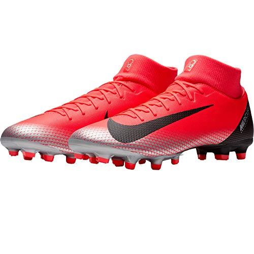 Nike Unisex-Erwachsene Superfly 6 Academy Cr7 Fg/mg Fußballschuhe, Mehrfarbig (Bright Crimson/Black/Chrome/Dark Grey 600), 44.5 EU