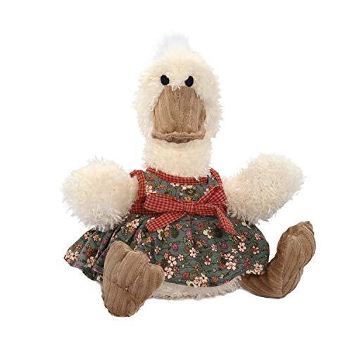 Bop pluche groot pluche dier eend XXL ideaal knuffeldier geschenk eendendame gelukssente duck in grijs wit schattig knuffeldier voor kinderen en baby pluche kussen dier kussen