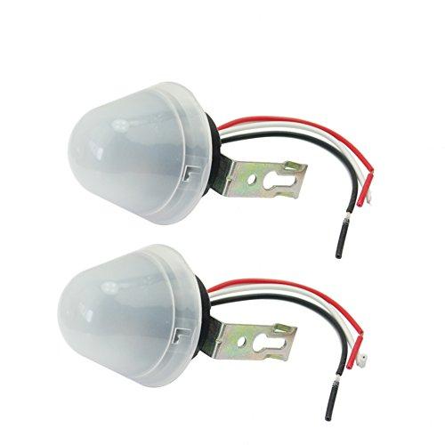 2x Dämmerungsschalter Lichtdimmer Dimmer Dämmerungssensor für automatische nächtliche Beleuchtung