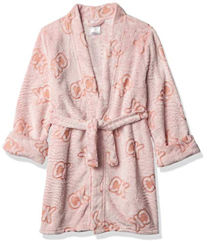 Calvin Klein Mädchen Hooded Cozy Robe Pyjama Set, Ck Toss Pink, Medium