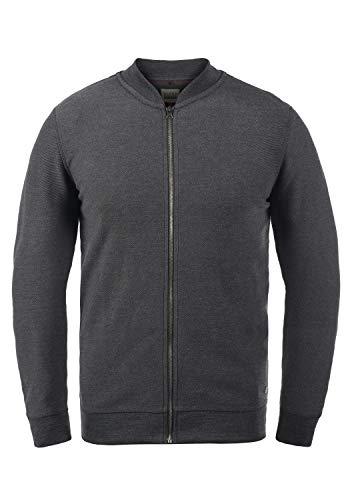Blend Frank Herren Sweatjacke Cardigan Jacke, Größe:M, Farbe:Charcoal (70818)
