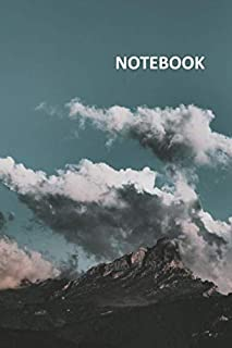 Notebook: Clouds and Mountains Compact Composition Book Daily Journal Notepad Diary Student for notes on how to plan a backpacking trip