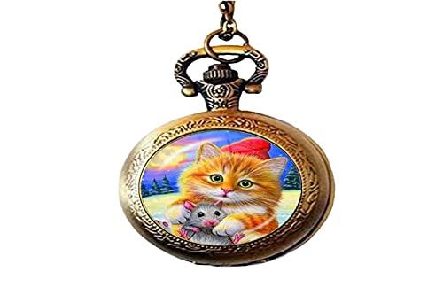 Art Charm - Collar de cristal para niños, diseño de gato