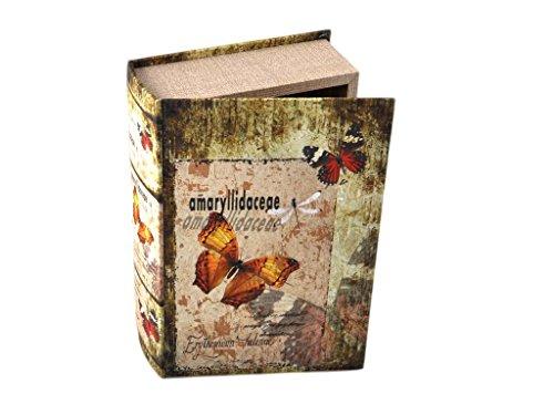 Tiendas Mi Casa - Caja Libro Mariposas (Modelo A, 27x18x7 cm). Disponibles 5 Modelos.
