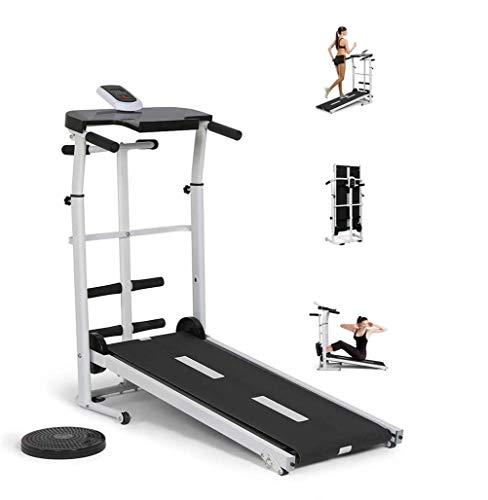 Inicio cinta de correr, caminadora plegable portátil, manual Caminar máquina de ejercicio físico delgado Ejecución de escritorio de oficina caminadora de inclinación + plegable for un gimnasio en casa