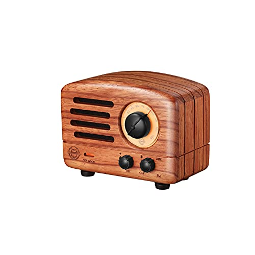 MUZEN OTR Bluetooth Speaker, Portable Bluetooth Wireless Vintage Speakers with Crystal Clear Sound,Retro Wood Bluetooth Speaker, Bluetooth 4.0 with FM Radio, for Home, for Office, for Outdoor