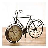 kerryshop Reloj Despertador Desktop Retro Desk Clock Classic Art Desk Desk Clock Bicicleta Estilo Viejo Chic Sala de Estar Decoración Desk Clock Péndulo Color Bronce Reloj de Escritorio