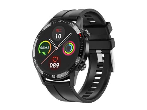 Reloj Inteligente para Android e iOS Phone Fitness Tracker Reloj con Monitor de Ritmo cardíaco Step Sleep Tracker, Smartwatch Compatible con iPhone Samsung, Reloj para Hombres y Mujeres (Negro)