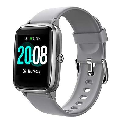 LIFEBEE Reloj Inteligente, Smartwatch Hombre y Mujer Pulsera Actividad Inteligent Deportivo Impermeable IP68 con Pulsómetro, Monitor de Sueño, Pantalla Táctil Completa Reloj Fitness para Android iOS