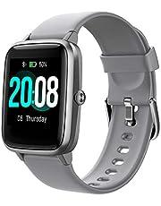 Smartwatch, LIFEBEE Fitness Armband Fitness Tracker Voller Touch Screen Smart Watch IP68 Wasserdicht Fitness Uhr mit Pulsuhren Schrittzähler Damen Herren Armbanduhr Sportuhr für iOS Android (Grau)