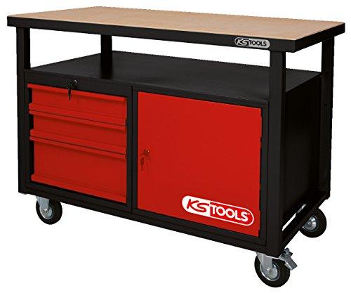 KS Tools 8650101 Werkbank mit 3 Schubladen und 1 Tür, fahrbare - 3