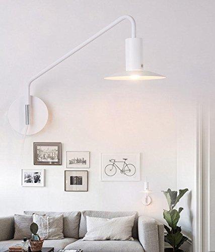 LED wandlamp/modern design wandlamp / 180° rotary etui/acryl ijzer acryl Die-Casting Light Body/White Waist Hip Touch Switch Decor wandlamp