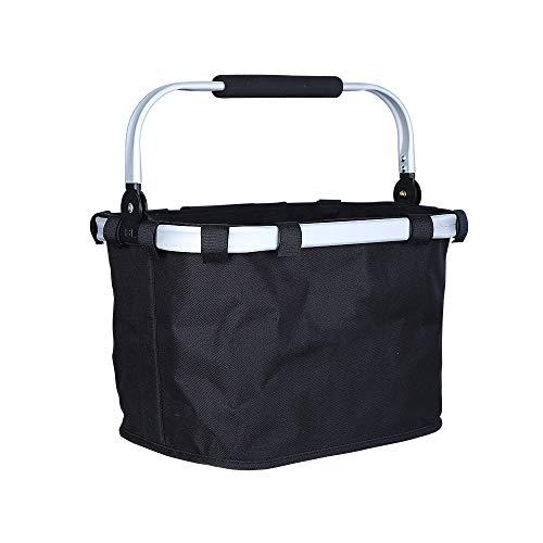 EEKUY Fietsmand voor fiets, fietsmand, aluminium fietsframe, waterdicht, Oxford doek, mandje voor huisdieren, frame mandje tas