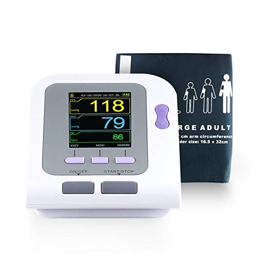 CONTEC08A Fully Automatic Digital Upper Arm Blood Pressure Monitor Adult,Child,Pediatric,Neonotal Cuffs (4 Cuffs)