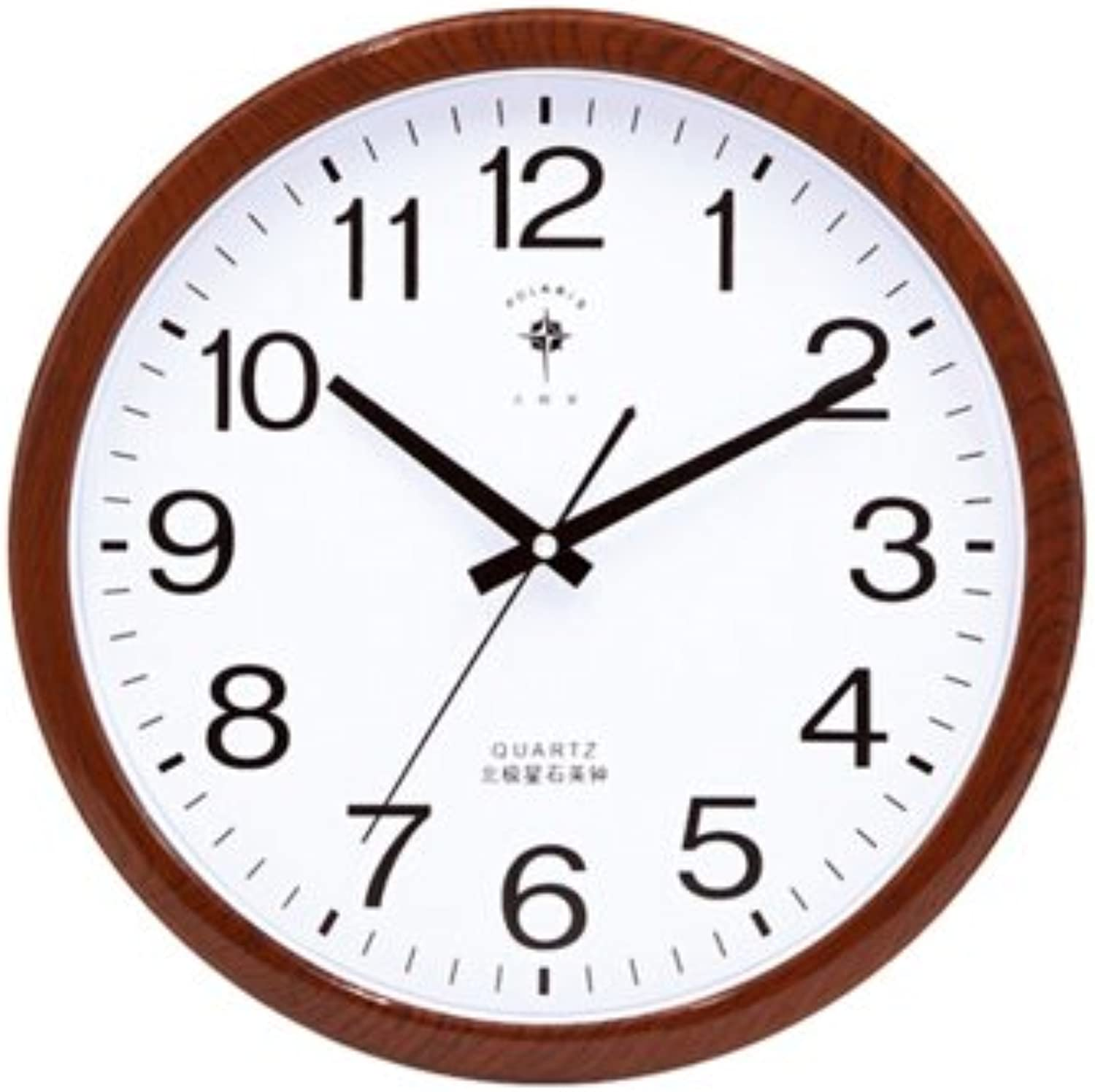 Znzbzt Simple Creative Mute Wall Clock 14 in European-Style Living Room Mute Wall Clock Performance on Behalf of The Fashionable Quartz Clock Office Simple Creative Clock