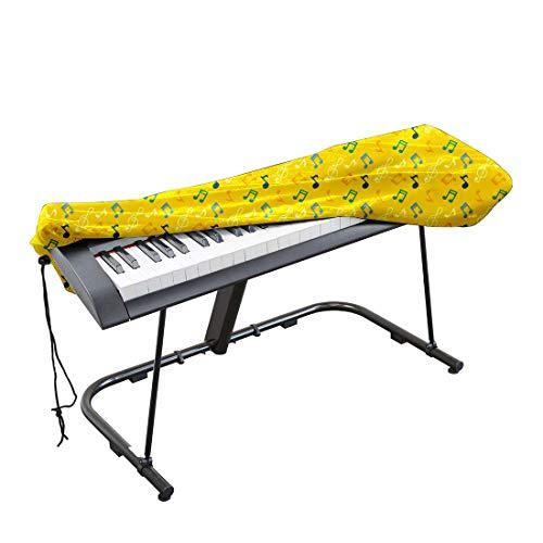 Funda universal para teclado electrónico de piano 61/88 con cierre de cordón y cierre de bloqueo