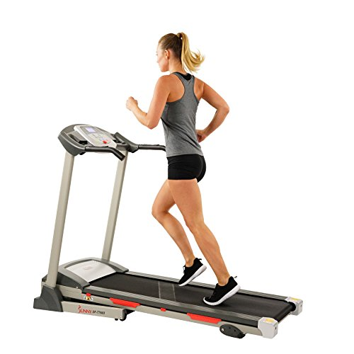 Sunny Health & Fitness SF-T7603 Electric Treadmill w/ 9 Programs, 3 Manual Incline, Easy Handrail Controls & Preset Button Speeds, Soft Drop System Treadmills