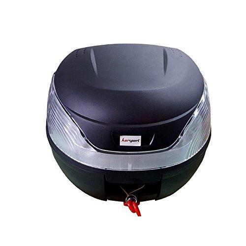 Baul Top Case para Moto. Capacidad de 35 litros para un Casco y mas Accesorios. Color Negro. Scooter, ciclomotor, Motocicleta, maxiscooter, ATV.