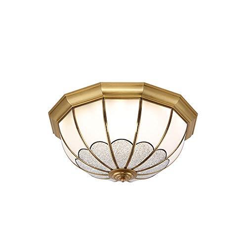 WFZRXFC Lámpara de techo de montaje semi empotrado de la industria retro de mediados de siglo Lámpara de techo con borde dorado envuelto a mano Con pantalla de vidrio esmerilado Iluminación de techo U
