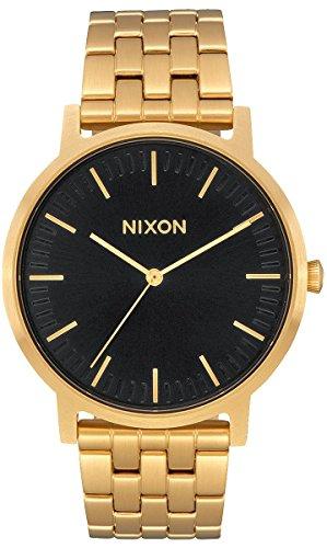 Nixon Armbanduhr Porter All Gold / Black Sunray