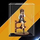 JERPOZ Soporte De Exhibición De Acrílico del Cubo, Caja De Presentación del Museo, Vitrina De Auto-ensamblaje A Prueba De Polvo 25cm × 25cm × 25cm Caja de acrílico
