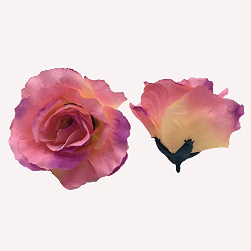 rainbowhh Große Rosen Seidenblumen Köpfe Floral Waedding Supplies Crafts Red 3,5