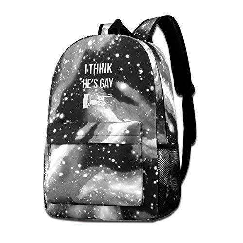 SFGHM Ich denke, er ist schwul Unisex Canvas Schultasche Lässige Reisetasche Fashion Star Sky Rucksack