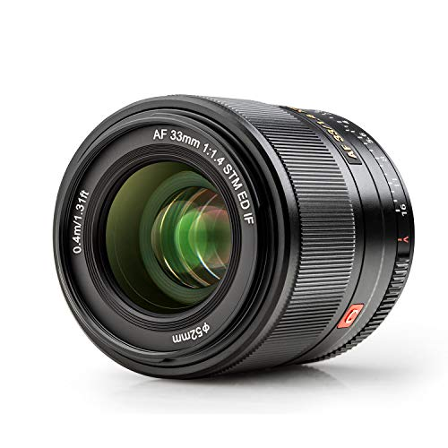 VILTROX 単焦点レンズ AF 33mm F1.4 STM F1.4大口径 富士Xマウント交換レンズ 軽量 柔らかいボケ味 X-PRO1/Pro2 /X-S10/X-T1 /T 2/T3/X-T10/T20/T30などに対応
