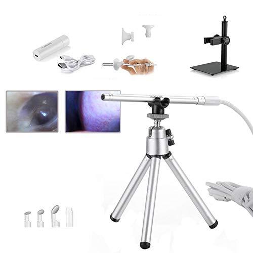 WHYTT Microscopio Digital USB Peeping Mirror de Mano 500x Aumento IP67 Cámara de inspección a Prueba de Agua con Soporte Adecuado para inspección de Animales, hospitales, etc.