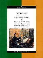 リヒャルト・シュトラウス: 4つの最後の歌、オーボエ協奏曲、メタモルフォーゼン(23の独奏楽器のための習作)/ブージー & ホークス社/大型スコア
